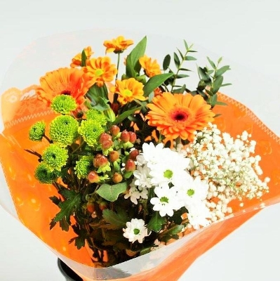 Blooming orange bouquet
