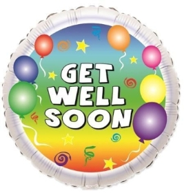 9 inch get well soon balloon