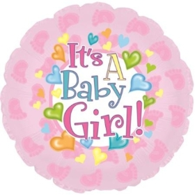 9 inch baby girl balloon