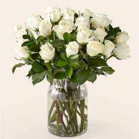 Classic 24 White Roses Bouquet