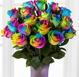 Rainbow Roses or Happy Roses Bouquet