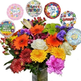Florist Choice Bouquet with Balloon