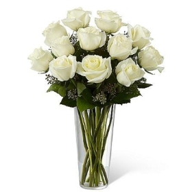 Snowy Luxury White Roses