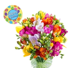 Simply Freesias with Easter Balloon