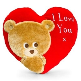 Pipp The Bear Heart Cushion 30cm