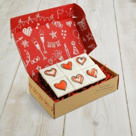 Love Hearts Fruit Cake