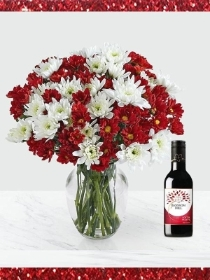 Holly Jolly Bouquet With Wine